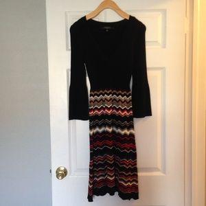 Nine West 3/4 Sleeve Dress Sz S EUC